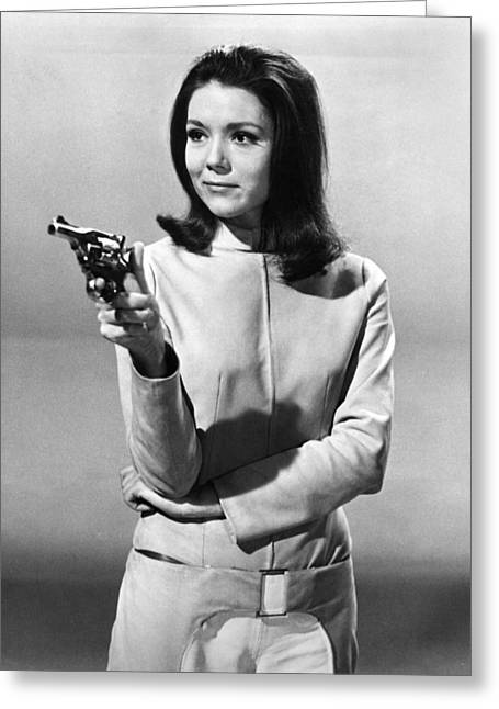 Diana Rigg In The Avengers  Greeting Card by Silver Screen