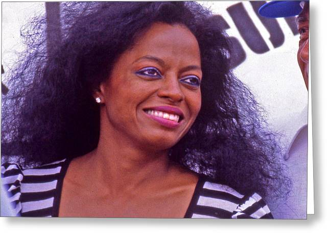 Nominee Greeting Cards - Diana Ross Greeting Card by Mike Flynn
