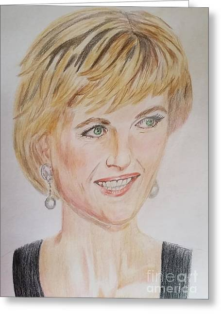 Lady Diana Greeting Cards - Diana Greeting Card by Shyline D