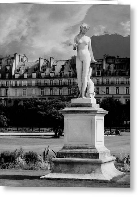 The Tuileries Gardens Greeting Cards - Diana the Huntress Greeting Card by Diana Angstadt