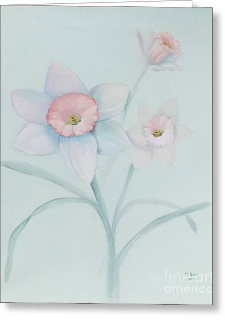 Still Life With Daffodils Greeting Cards - Diannes Daffodils Greeting Card by Marlene Book