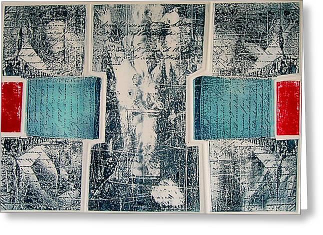 Journal Drawings Greeting Cards - Diario Femenino Greeting Card by Nancy Almazan