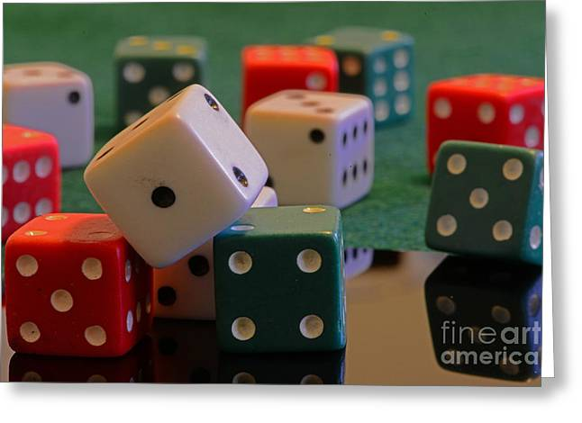 Living Large Greeting Cards - Dice Greeting Card by Paul Ward