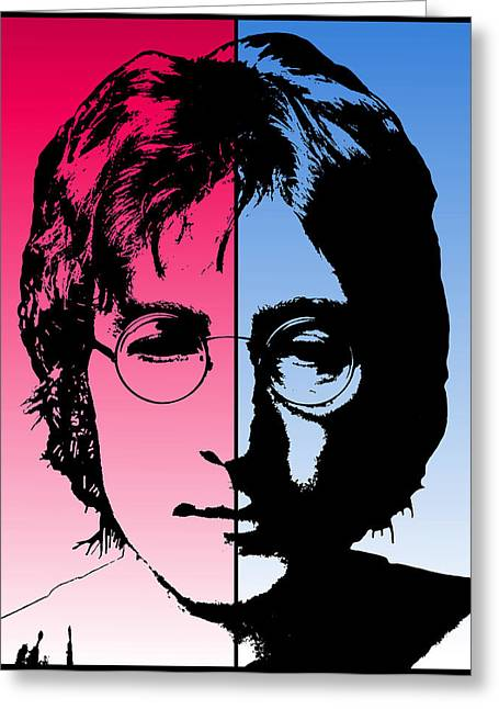 New Britain Digital Art Greeting Cards - Dichotomous Lennon Greeting Card by Daniel Hagerman