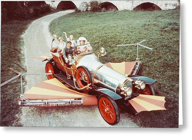 Musical Film Greeting Cards - Dick Van Dyke in Chitty Chitty Bang Bang  Greeting Card by Silver Screen