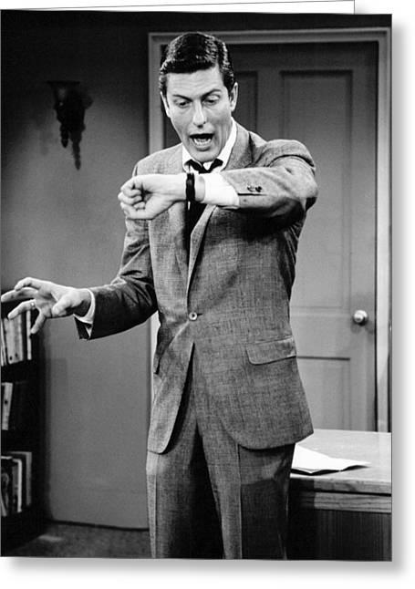 Dick Van Dyke In The Dick Van Dyke Show  Greeting Card by Silver Screen