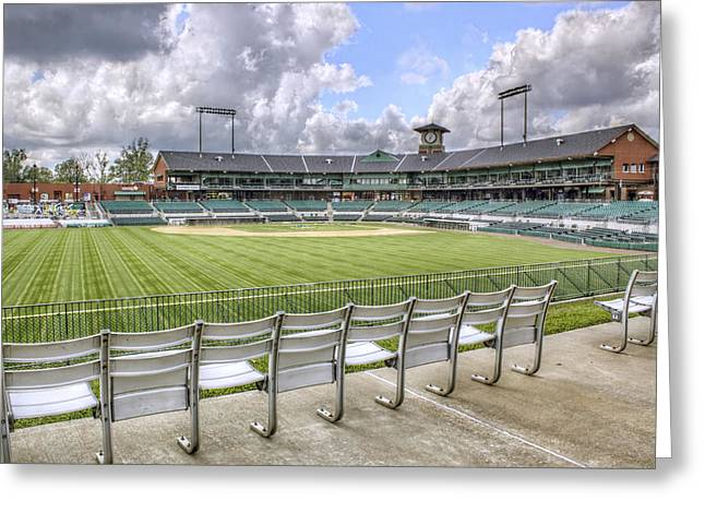 Jmpolitte Greeting Cards - Dickey-Stephens Park Greeting Card by Jason Politte