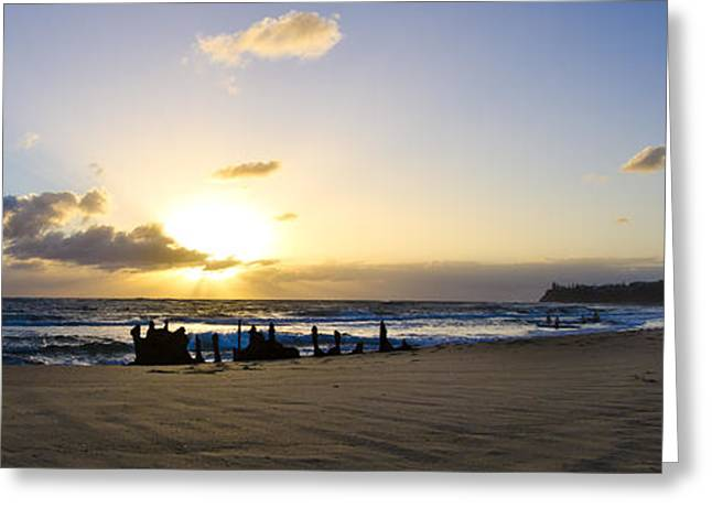 Ocean Panorama Greeting Cards - Dicky Beach Panorama Greeting Card by Blake Fraser