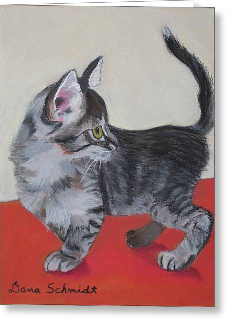 Cute Kitten Pastels Greeting Cards - Did I Hear Someone Call Me? Greeting Card by Dana Schmidt