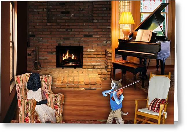 Leg Lamp Greeting Cards - Diddle Diddle Greeting Card by Jennifer Schwab