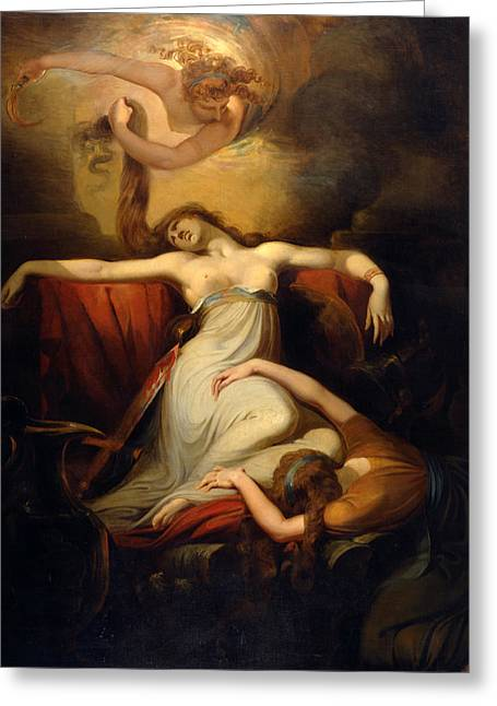 Henry Fuseli Greeting Cards - Dido Greeting Card by Henry Fuseli