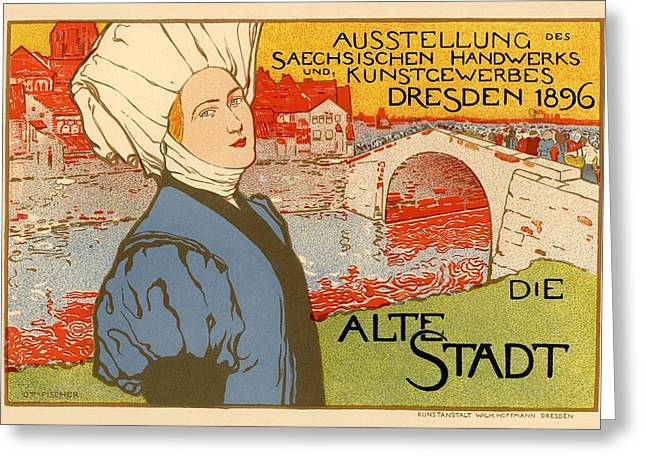 Belle Epoque Greeting Cards - Die Alte Stadt Greeting Card by Gianfranco Weiss