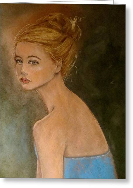 Strength Pastels Greeting Cards - Die Starke von Maria Greeting Card by C Pichura
