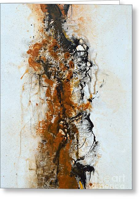 Die Trying - Abstract Greeting Card by Ismeta Gruenwald
