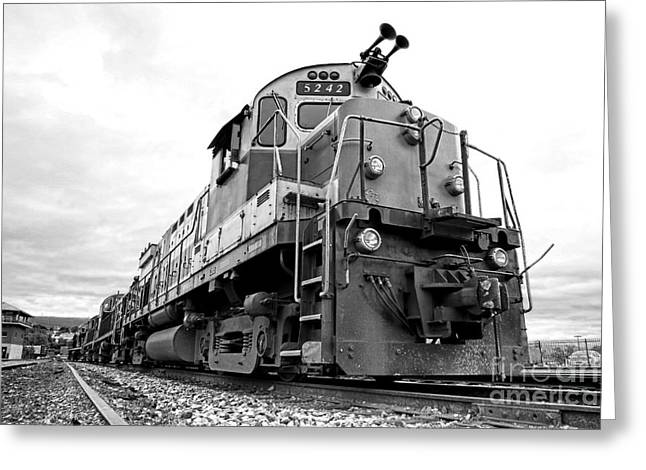 Railway Locomotive Greeting Cards - Diesel Electric Locomotive Greeting Card by Olivier Le Queinec