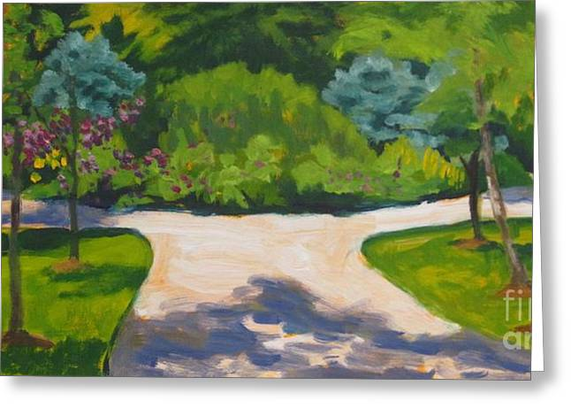 Indiana Springs Paintings Greeting Cards - Different Paths Same Destination  Greeting Card by Katrina West