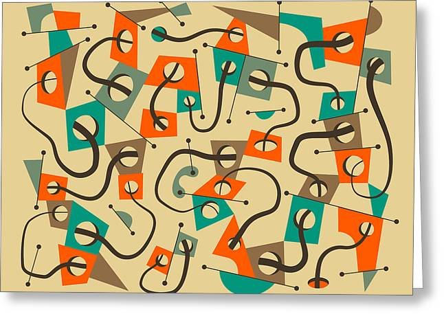 Abstractions Greeting Cards - Different Strokes Greeting Card by Jazzberry Blue