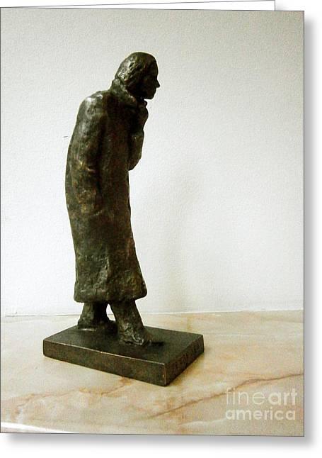 Despair Sculptures Greeting Cards - Difficult days Greeting Card by Nikola Litchkov