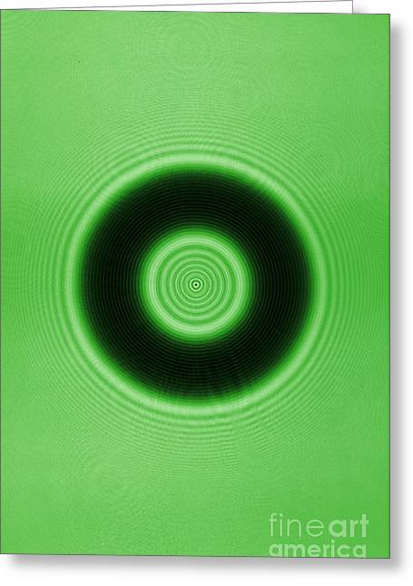 Helium Greeting Cards - Diffraction On A Ring,  2 Of 2 Greeting Card by GIPhotoStock