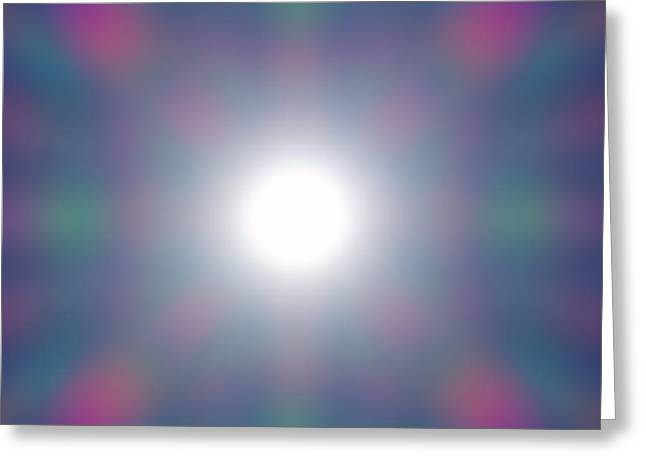 Spectrum Photographs Greeting Cards - Diffraction Greeting Card by Wim Lanclus