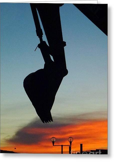 Digging Sunset 2 Greeting Card by Barbie Corbett-Newmin