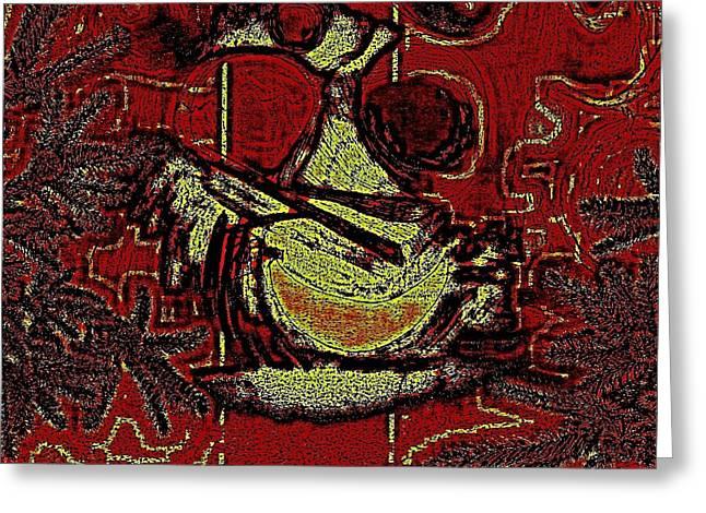 Etc. Digital Art Greeting Cards - Digital Abstract Greeting Card by HollyWood Creation By linda zanini