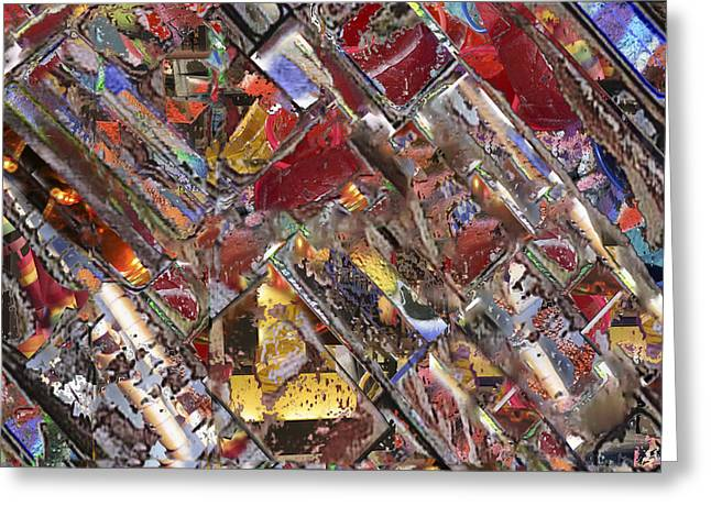 Warm Tones Greeting Cards - Diagonal Layers Greeting Card by Don Gradner