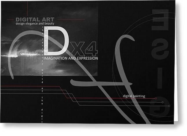 DIGITAL AGE X4 Greeting Card by Franziskus Pfleghart