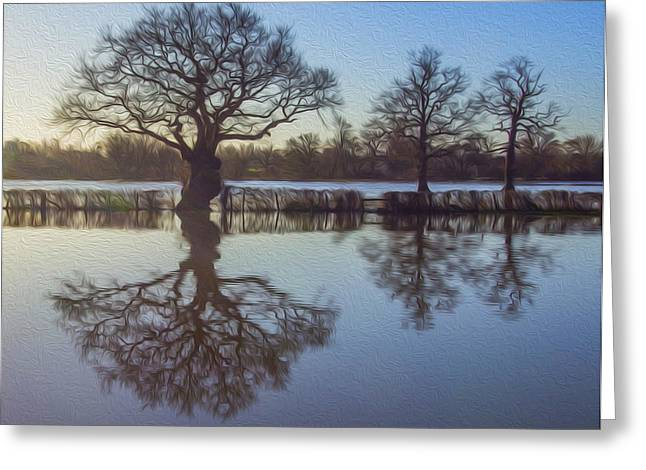 Flooding Digital Art Greeting Cards - Digital Art Greeting Card by Clive Eariss