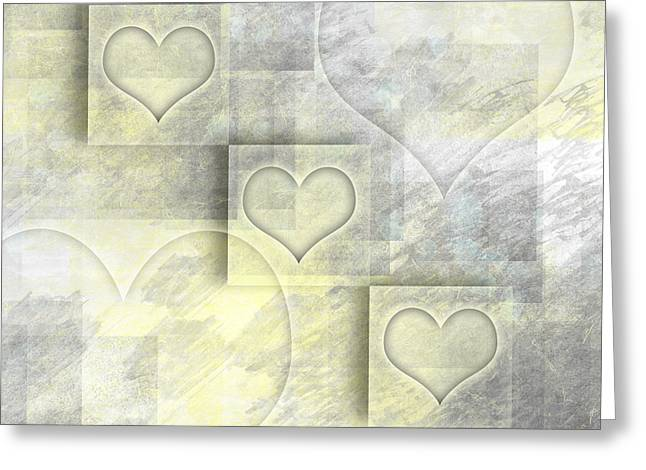 Colorspot Greeting Cards - Digital-Art Hearts II Greeting Card by Melanie Viola