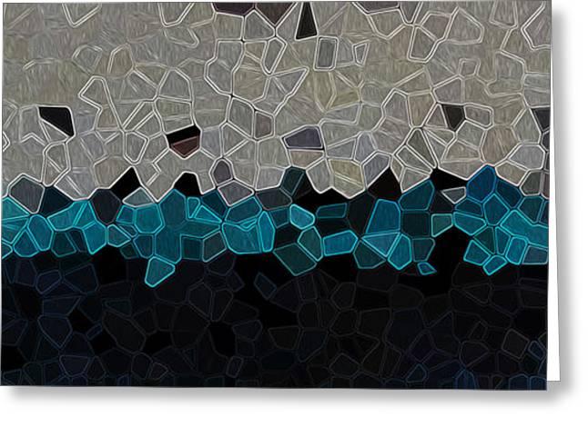 Geometric Digital Art Greeting Cards - Digital Bands Greeting Card by Jason White