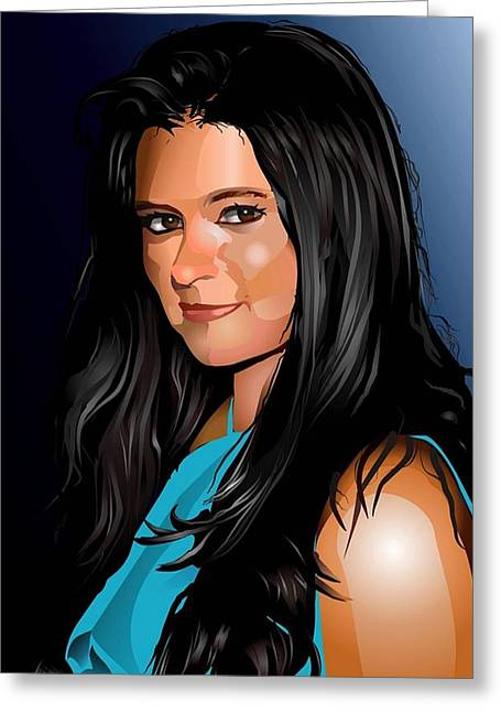 Women Sports Artist Greeting Cards - Digital Danica  Greeting Card by P Dwain Morris