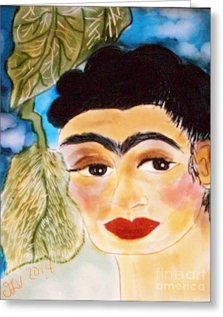 Unibrow Greeting Cards - Digital Frida Greeting Card by Viva La Vida Galeria Gloria