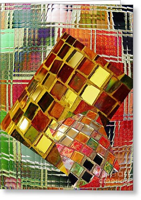 Abstract Digital Greeting Cards - Digital Mosaic Greeting Card by Sarah Loft