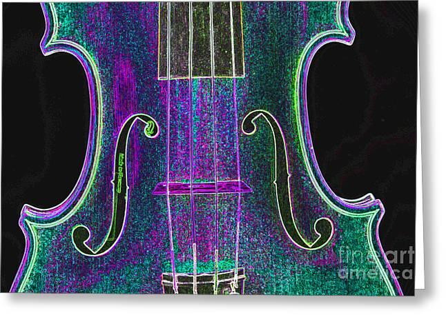 Still Life Photographs Greeting Cards - Digital Photograph of a Viola Violin Middle 3374.03 Greeting Card by M K  Miller