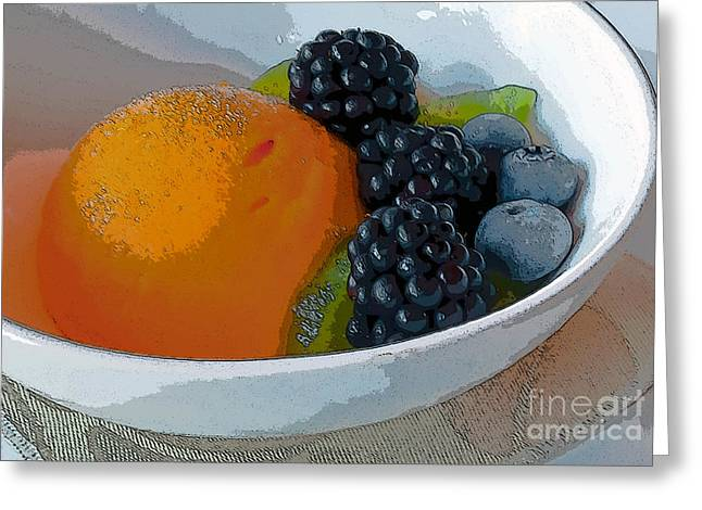 Sorbet Greeting Cards - Digital Poster of sorbet and fruit Greeting Card by Beth Wolff