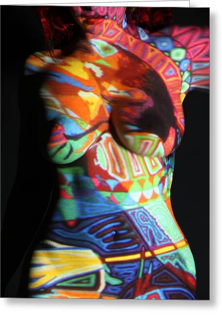 Artistic Beautiful Figure Study Greeting Cards - Digital Projection #47 Greeting Card by Stephen Carver