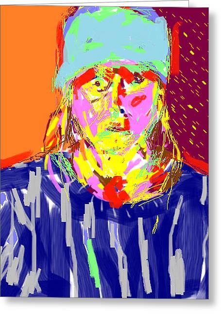 Anita Dale Livaditis Greeting Cards - Digital Self Portrait Greeting Card by Anita Dale Livaditis