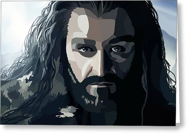 Lord Of The Rings Greeting Cards - Digital Thorin 1 Greeting Card by Kayleigh Semeniuk