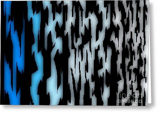 Art In Halifax Greeting Cards - Digital Zebra Coat Greeting Card by John Malone