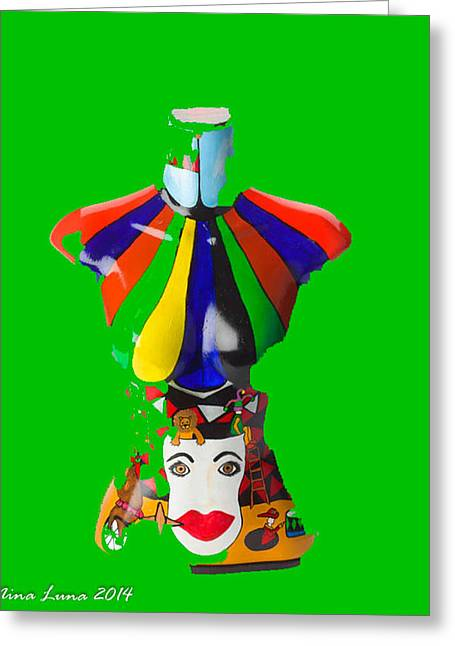 Digital Sculptures Greeting Cards - Digital Circus Greeting Card by Nina Luna