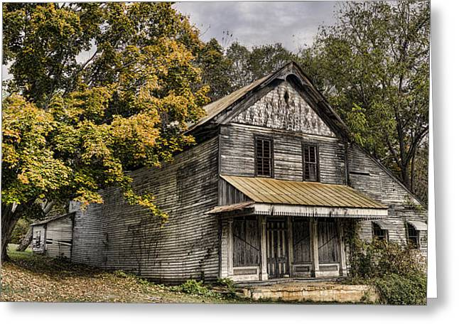 Historic Country Store Greeting Cards - Dilapidated Greeting Card by Heather Applegate