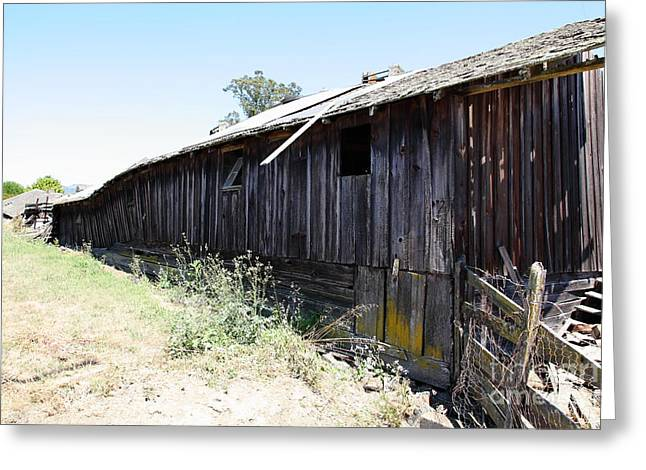 Dilapidated Houses Greeting Cards - Dilapidated Ranch in Petaluma California 5D24416 Greeting Card by Wingsdomain Art and Photography