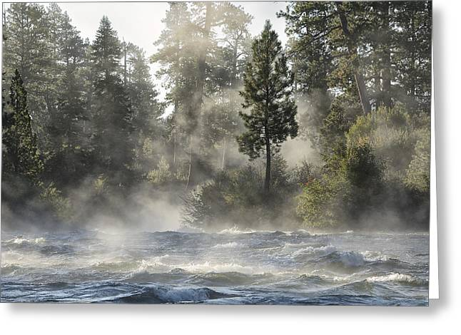 Dillon Falls Greeting Card by Christian Heeb