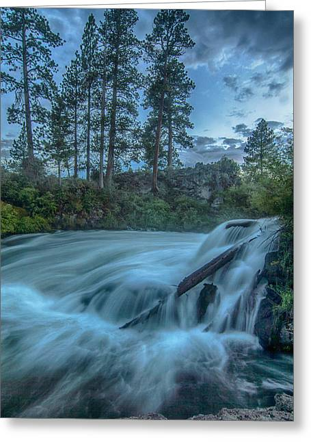 Summer Landscape Greeting Cards - Dillon Falls Greeting Card by Exquisite Oregon