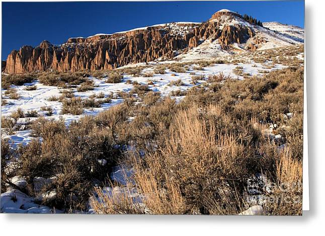 Dillon Greeting Cards - Dillon Pinnacles Greeting Card by Adam Jewell