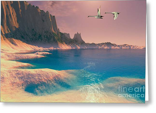 Muted Digital Art Greeting Cards - Dillon Seascape Greeting Card by Corey Ford