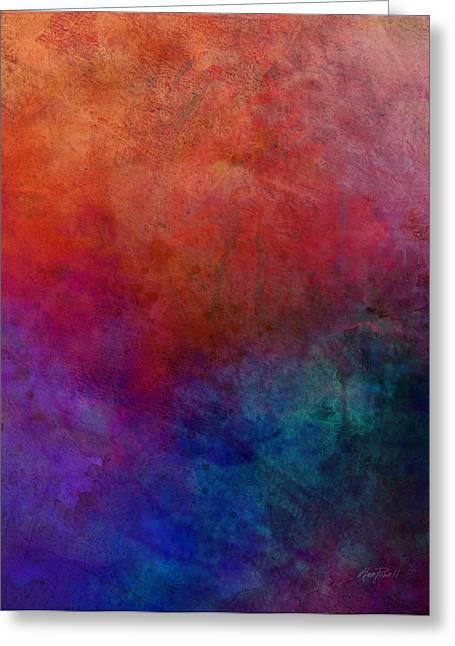 Birght Greeting Cards - Dimension - abstraact art Greeting Card by Ann Powell