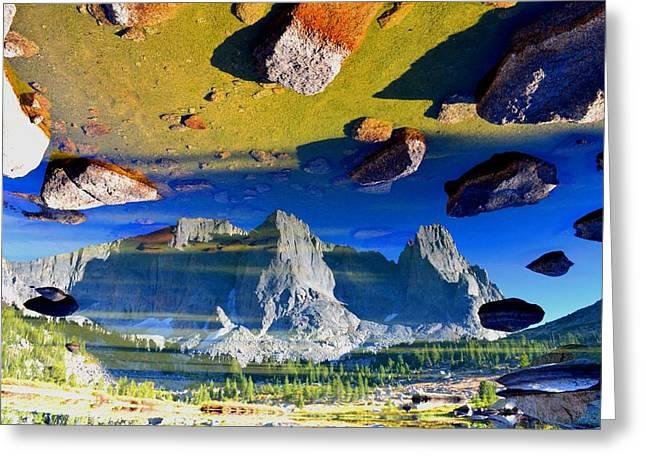 Chasm Lake Greeting Cards - Dimension Gamma Phi Greeting Card by Ryan Mcpherson