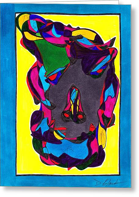 Block Print Drawings Greeting Cards - Dimensional outlook Greeting Card by Darrell Black